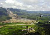 Landslide in Guinsagon,Philippines