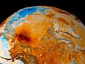 Arctic autumn temperatures,1982-2002