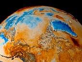 Arctic spring temperatures,1982-2002