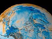 Arctic temperature anomaly,1988-1989
