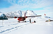 Antarctic expedition deploys from an aircraft