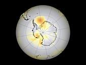 Antarctic temperatures,1990-1999