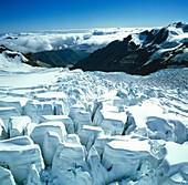 Glacial icefall