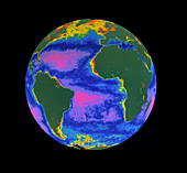 Satellite image of the Atlantic Ocean
