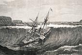 Tsunami and La Plata steamship