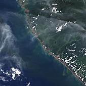 Indonesian coastline after 2004 tsunami