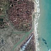 Indian coastal port after 2004 tsunami