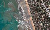Sri Lankan coastline,during 2004 tsunami