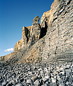 Eroded liassic limestone cliffs,Wales