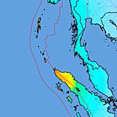 2004 tsunami earthquake intensity map