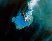 Eruption of Augustine volcano,Landsat image