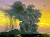Ash cloud from Surtslinger,Iceland