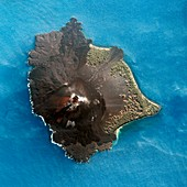 Anak Krakatau volcano satellite image