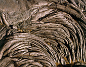 Patterns in cooled pahoehoe lava,Hawaii
