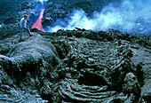 Lava flow rock formations
