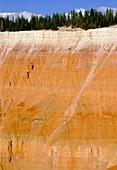 Arid erosion in parallel bedded sandstones