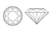 Diamond cutting pattern,artwork