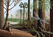 Carboniferous insects,artwork