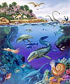 Cretaceous period fauna