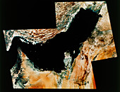 Landsat image of Persian Gulf & Strait of Hormuz