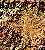 Kathmandu Basin,radar image