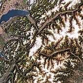 Mont Blanc,satellite image