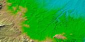 Canyons in Colorado,radar image