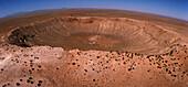 Aerial view of Meteor Crater,Arizona