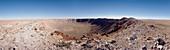 Panoramic view of Barringer meteor crater