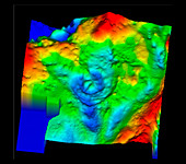 Gravity map of Chicxulub crater