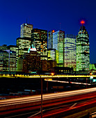 Time exposure picture of Toronto,Canada,at night