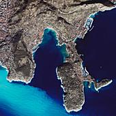 Nice,France,satellite image