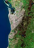 Adelaide,Australia,satellite image