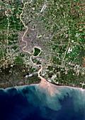 Bangkok,Thailand,satellite image