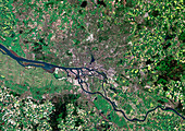 Hamburg,satellite image
