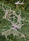 Ljubljana,satellite image