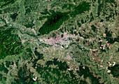 Zagreb,satellite image