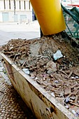 Skip containing building rubble