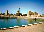 Sacred Lake at Karnak,Ancient Egypt