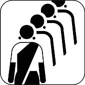 Female queue symbol,artwork
