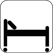 Hospital bed symbol,artwork