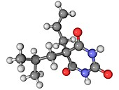 Butalbital barbiturate drug molecule