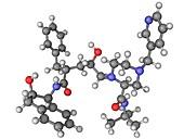 Indinavir AIDS drug molecule