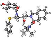Nelfinavir AIDS drug molecule