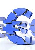 Euro crisis,conceptual artwork