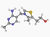 Vitamin B1 thiamine molecule