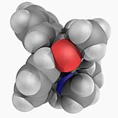 Methadone drug molecule