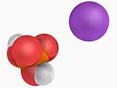 Monosodium phosphate molecule