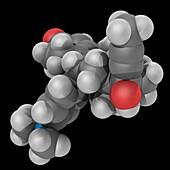 Mifepristone drug molecule