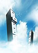 Cloud computing,conceptual artwork